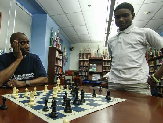 Thomas Edison Charter School after school chess program