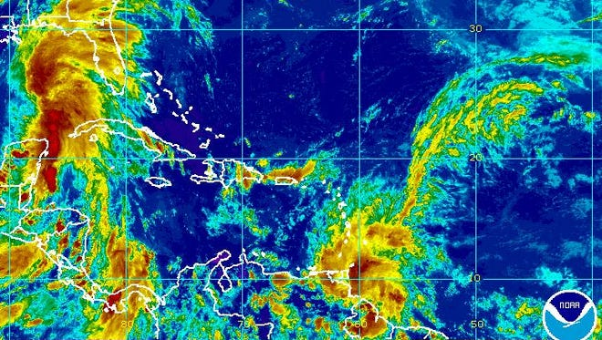 Tropical Storm Bret forms in the Atlantic