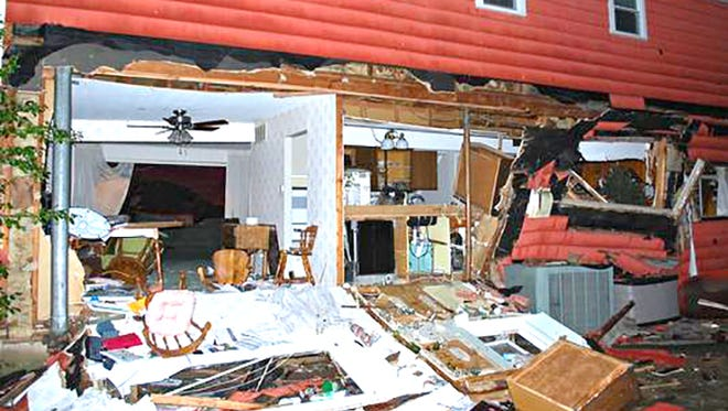 An explosion heavily damaged a Cornell Drive house Friday night in Delran.