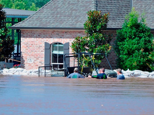 Residents in River Bluff subdivision in chest high