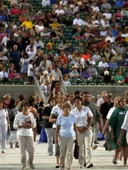 Thousands came forward to make professions of faith