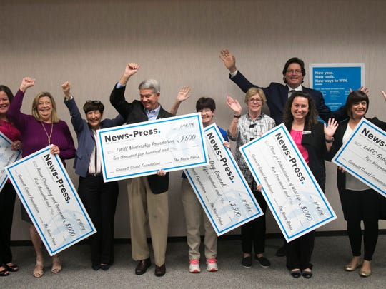 The Gannett Foundation presented grant money to local