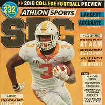 Tennessee Vols RB Ty Chandler featured on cover of Athlon Sports SEC magazine