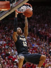 Purdue Boilermakers forward Vincent Edwards (12) dunks