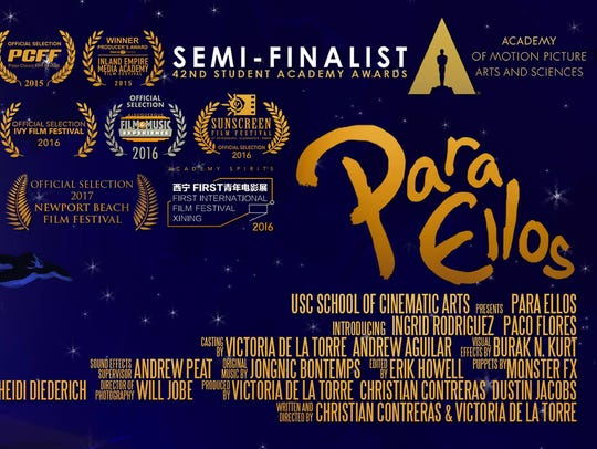 """Film poster for """"Para Ellos,"""" one of the short films"""