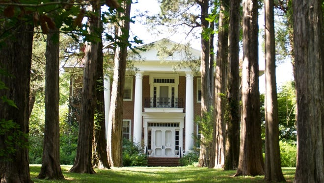 Davis House, 285 Plains Road, was built in 1851 in the Greek revival style out of handmade brick.