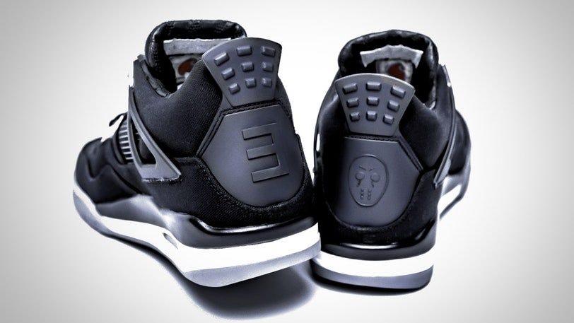 Rare Eminem Nike Air Jordan 4 kicks up