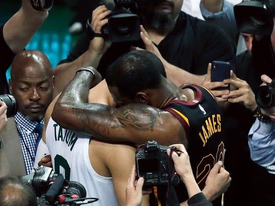 LeBron's 35 help Cavs beat Celtics 87-79, reach NBA Finals