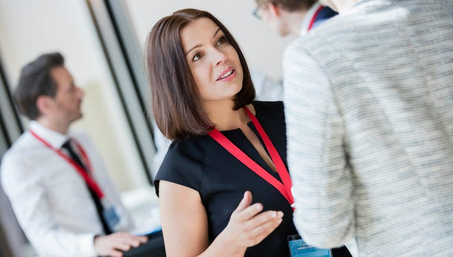 If there is one thing every attendee has in common at a business conference, it is that they are wearing a badge. That lanyard is your invitation to approach and introduce yourself.