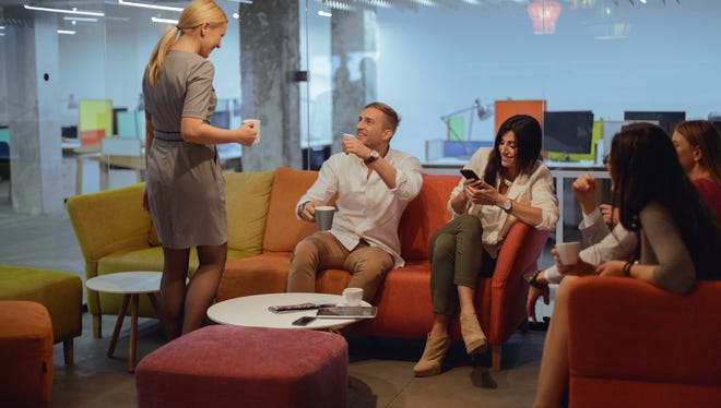 More workplaces are offering better perks like free coffee and snacks.