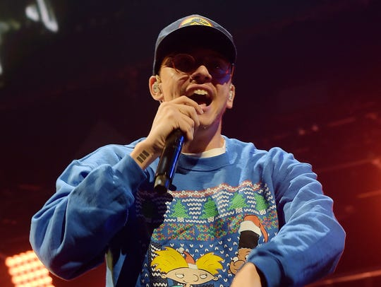 Logic performs at Y100's Jingle Ball 2017 at BB&T Center