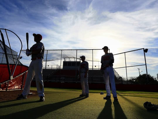 Robstown players work through a practice last season at Castro Field. The Cotton Pickers are among the favorites to win District 31-4A this season.