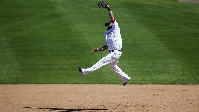 Boston Red Sox first baseman Mike Napoli will plat today against the Marlins at JetBlue Park.