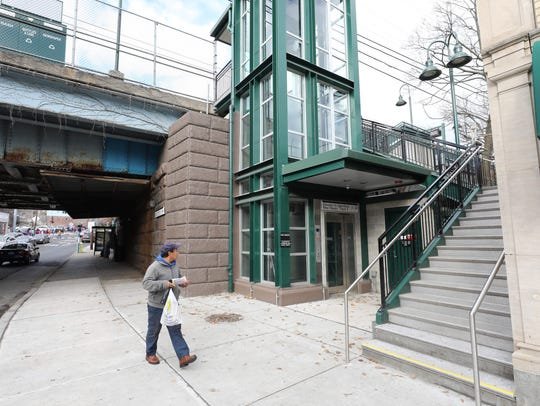 A new elevator was installed at the Port Chester Metro-North