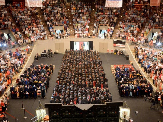 Union University's 190th graduating class held its May 2015 commencement ceremony at Oman Arena.