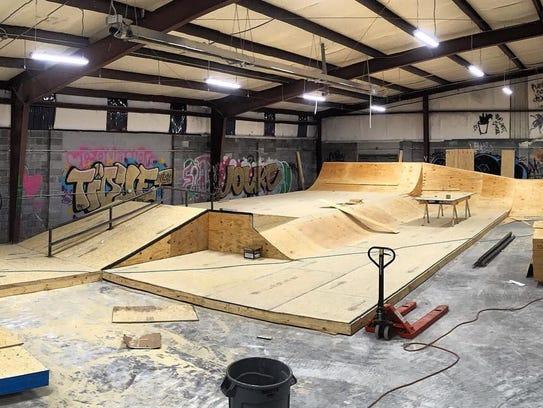 RAD Skatepark under construction earlier this year.