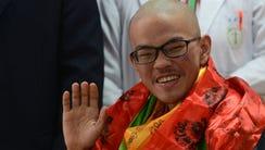 Taiwanese trekker Liang Sheng-yueh, who was rescued