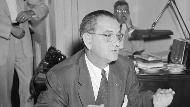 Then-Sen. Lyndon Johnson introduced legislation in 1954 that bars churches and tax-exempt groups from endorsing political candidates. President Donald Trump on May 4 signed an executive order aimed at weakening the Johnson Amendment.