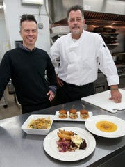 General manager Pete Palladino (left) and chef Al Vanesko