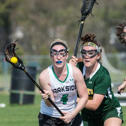 Parkside's Leah Vilov (4) looks for a pass during a