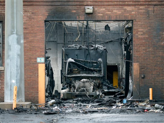 Aftermath of a Dec. 24 fire at the Irondequoit Department