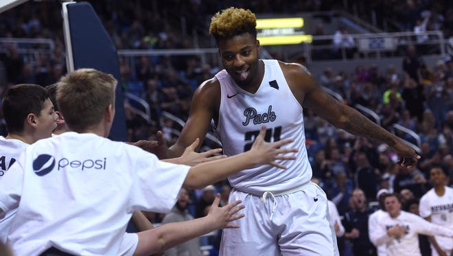 Jordan Caroline and the Wolf Pack take on Iowa State in the NCAA Tournament on Thursday.