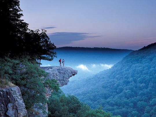 The iconic lookout Hawksbill Crag is a highlight of the Buffalo National River