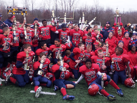 The Westland Comets junior varsity football team recently