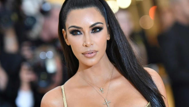 Kim Kardashian is pictured arriving for the 2018 Met Gala in New York last month.