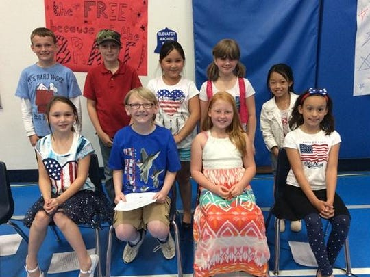 Third-graders at Mountain Bay Elementary read Memorial