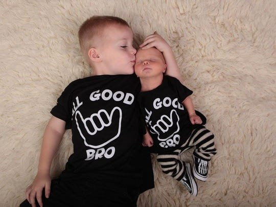Baby Ryder and his brother, Joe.