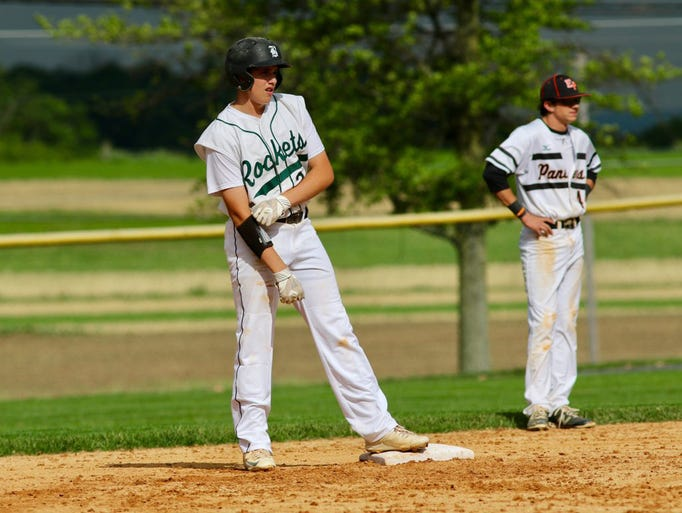 Chayse Fisher doubles for James Buchanan during a District