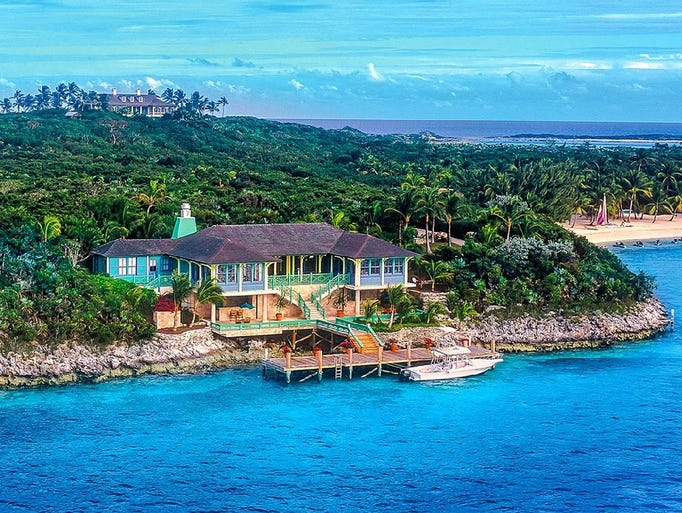 Exuma, Bahamas: This 12-bedroom rental sleeps 24.