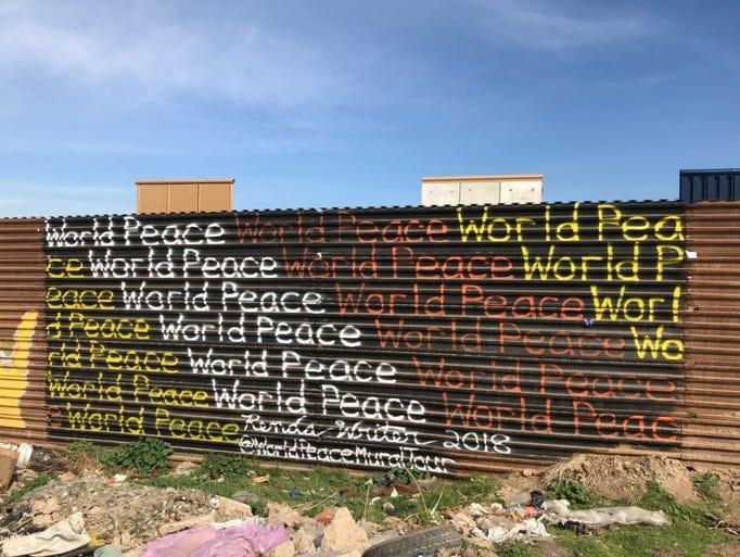 Murals in Tijuana, Mexico, across the border from prototypes