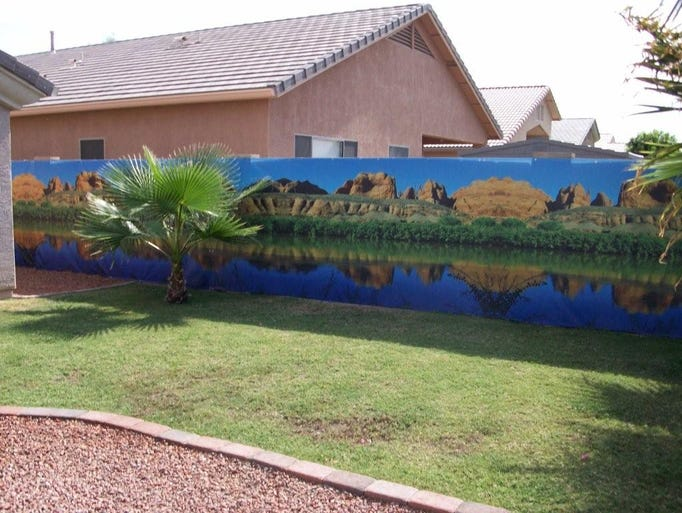 Wall sensations murals want to beautify your phoenix for Backyard mural ideas