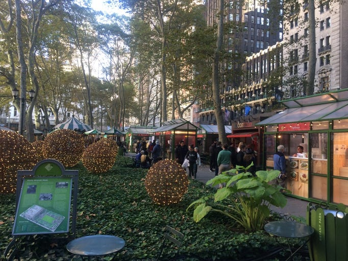 taste the holiday shops at bryant park