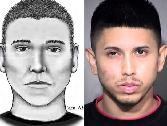 Police released this sketch of the serial street shooter