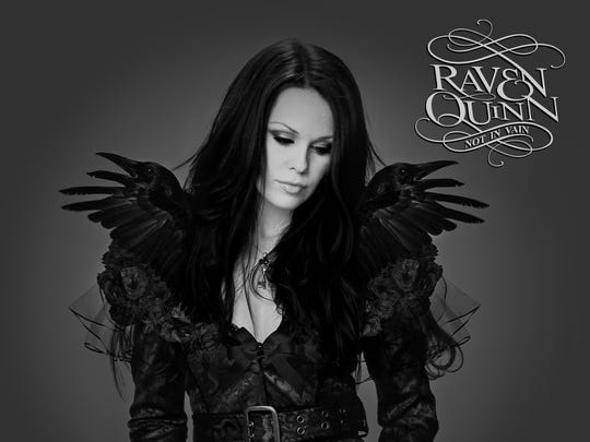 """Before her chemotherapy treatment for breast cancer, Raven Quinn had long dark hair, as shown on the cover for her second album, 2014's """"Not In Vain."""""""
