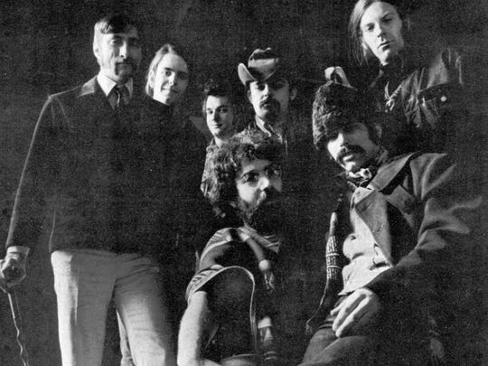 The Grateful Dead, seen in 1969. From left in the back