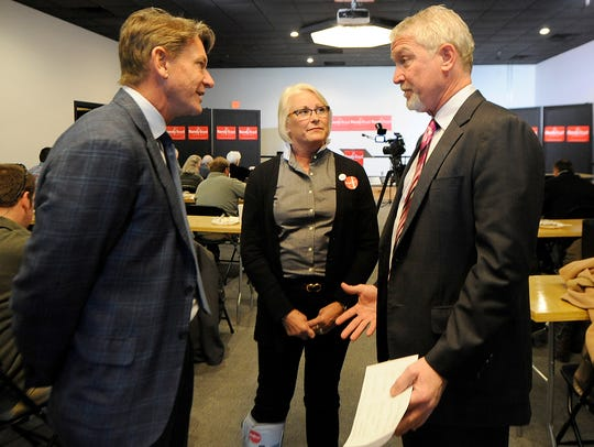 Randy Boyd, left, his wife, Jenny, and Jackson Chamber
