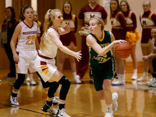 Senior Emma Fisher had six points, 12 assists and eight steals in Benton Central's sectional championship win over Lebanon Monday.