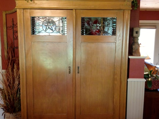 Melinda Heltsley shared a picture of a kitchenette that she saw created inside an old entertainment center.