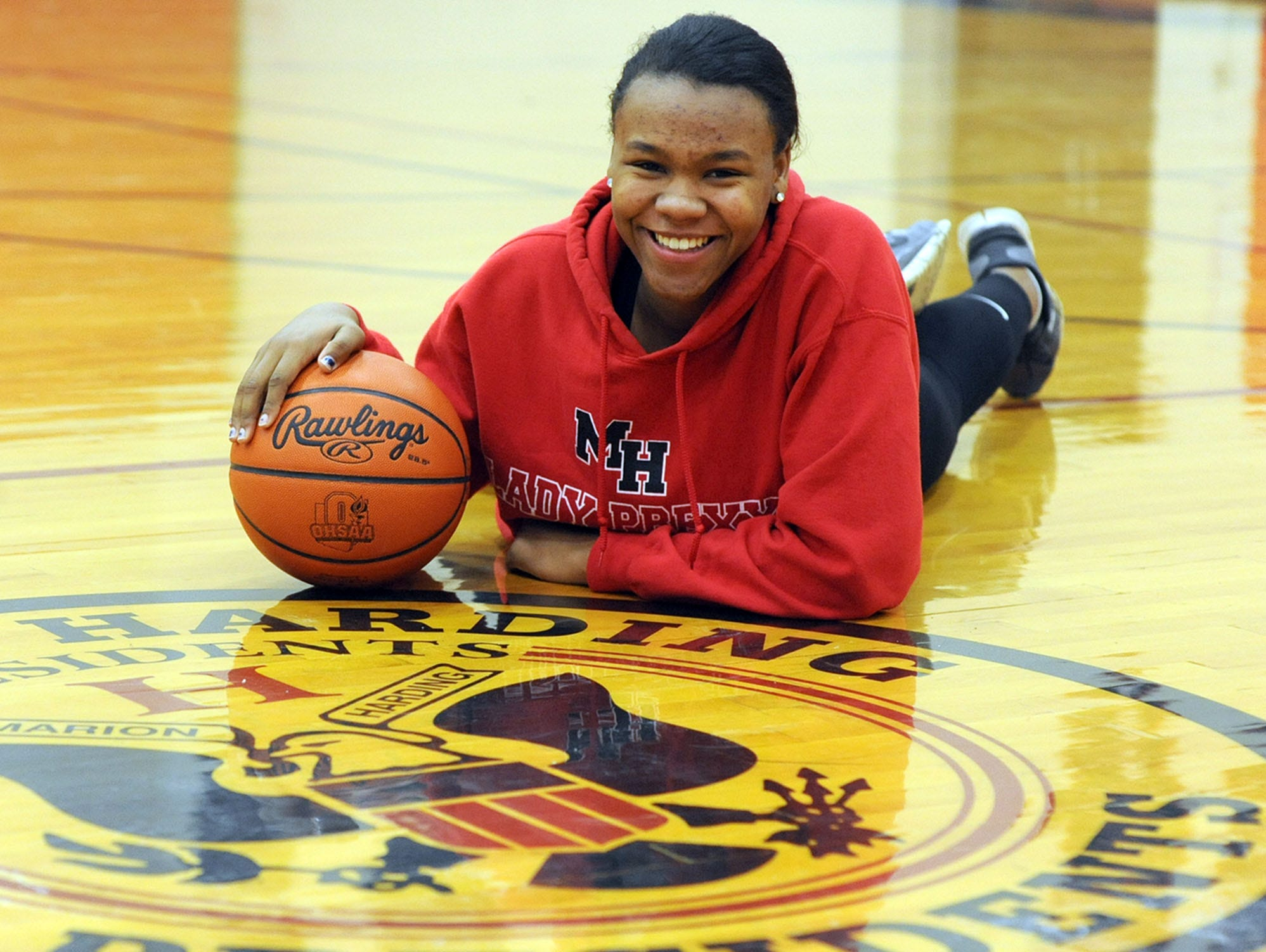 Harding High School senior basketball player Olivia Davis is the Fahey Bank Athlete of the Month for January.