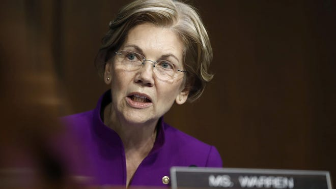"Sen. Elizabeth Warren, D-Mass., has said she never relied on her Native American heritage to gain any advantage. In a 2012 interview with the AP, Warren said she was told her mother was part Cherokee and part Delaware. Carolyn Kaster/AP FILE - In this Nov. 28, 2017 file photo, Sen. Elizabeth Warren, D-Mass., speaks during a Senate Banking, Housing, and Urban Affairs Committee hearing on Capitol Hill in Washington. Republican candidates hoping to unseat Warren in the 2018 election aren't shying away from President Donald Trump's repeated criticisms of her claims of Native American heritage, although some said they won't be adopting Trump's habit of referring to Warren as ""Pocahontas."" (AP Photo/Carolyn Kaster, File)"