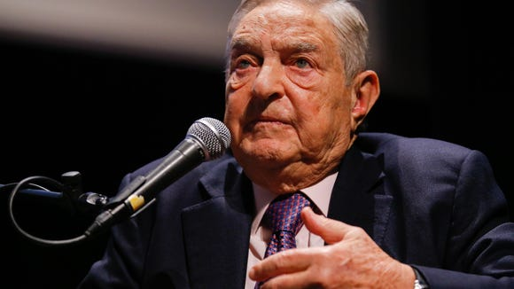 Soros Fund Management President Georges Soros speaks