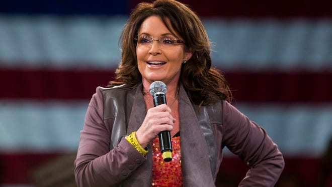 Sarah Palin on March 14, 2016, stumping for Donald Trump in Tampa. Fla.