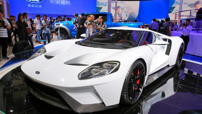 Ford GT car on display at the Auto China 2016 motor show in Beijing, China.