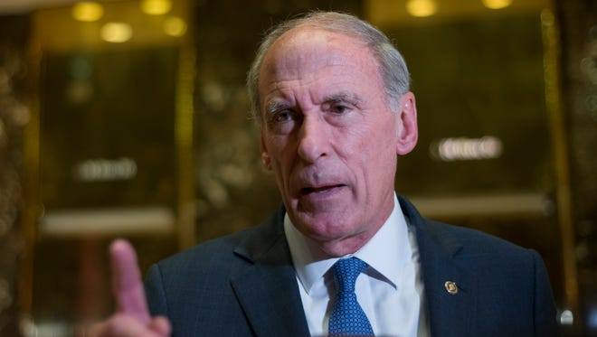 Former Indiana senator Dan Coats is Trump's choice for director of national intelligence.