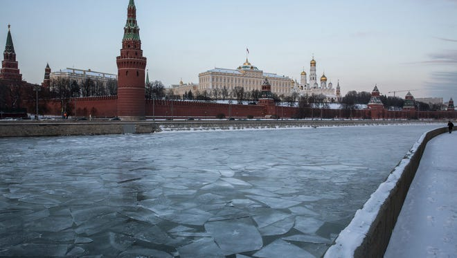 A view of the Kremlin in Moscow on Jan. 6, 2017.