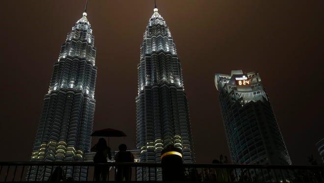 Minutes before Earth Hour in Kuala Lumpur, Malaysia, in 2016.